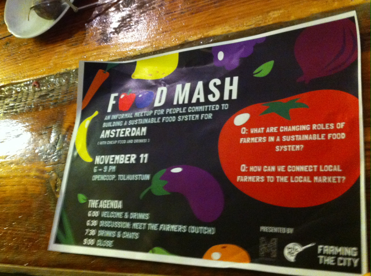 food mash poster wood