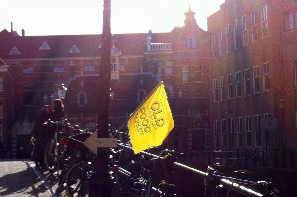 Market sunny flag
